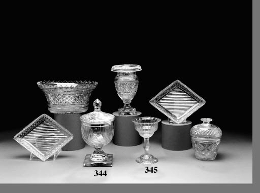 A GROUP OF GEORGIAN CUT GLASS