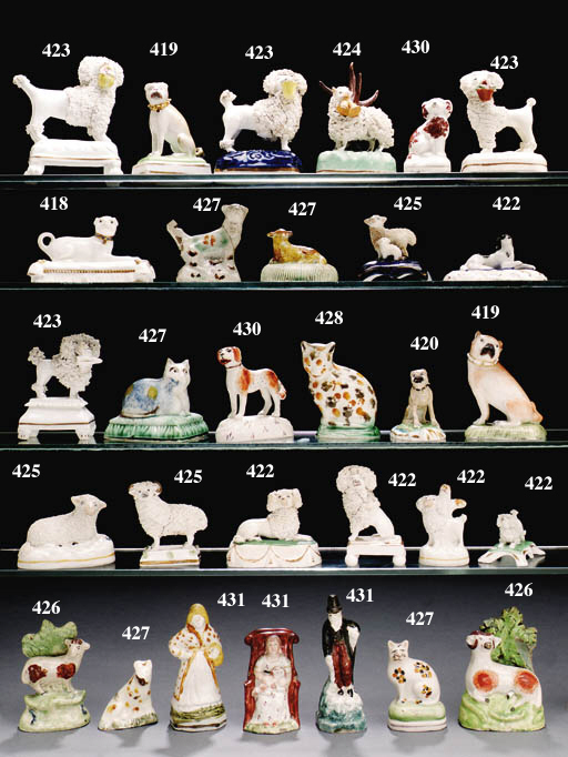 ELEVEN PEARLWARE MODELS OF SHE