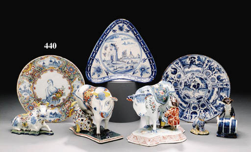 A DUTCH DELFT POLYCHROME PLATE