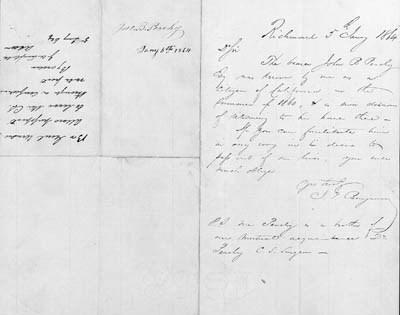 BENJAMIN, JUDAH P.  Autograph