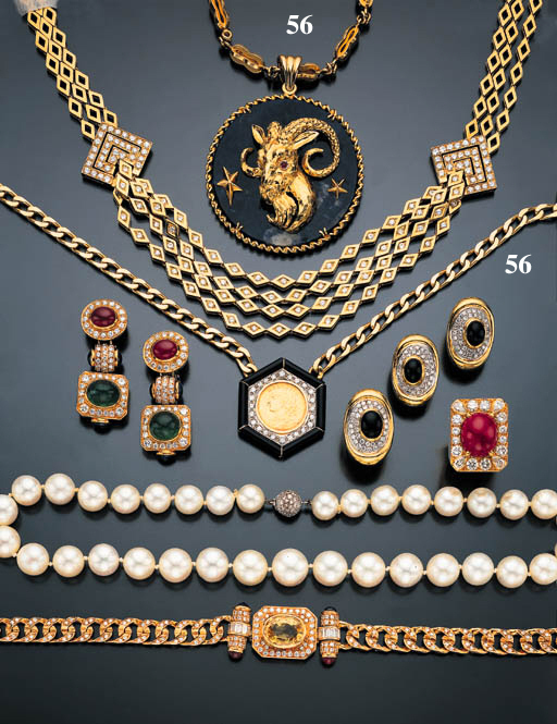 GROUP OF YELLOW GOLD JEWELRY