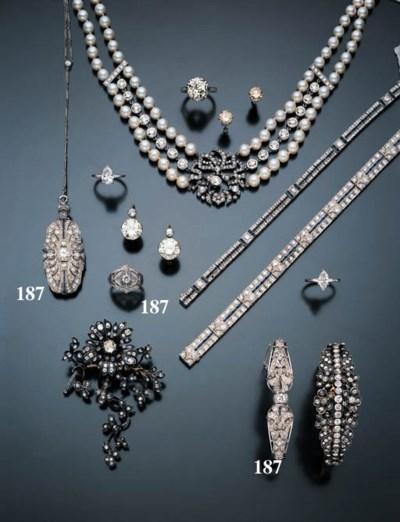 GROUP OF DIAMOND JEWELRY