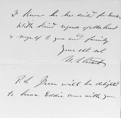 GRANT, ULYSSES S., President.