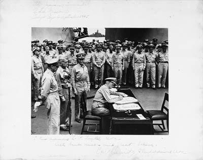 [WORLD WAR II, JAPANESE SURREN
