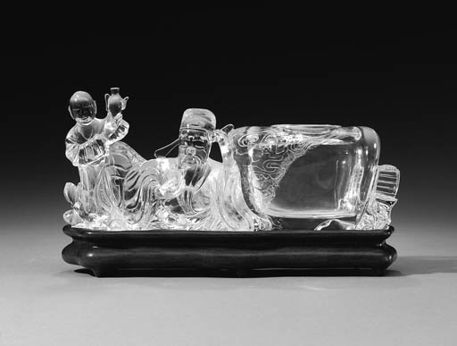 A ROCK CRYSTAL CARVING