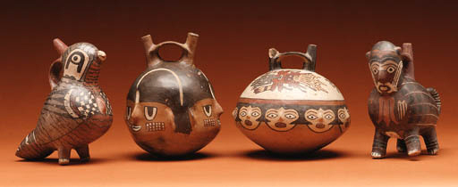 A GROUP OF NAZCA VESSELS