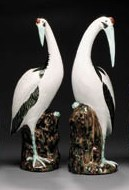 A LARGE PAIR OF WHITE CRANES