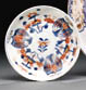 A CHINESE IMARI SAUCER WITH DO