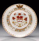 A PAIR OF EARLY ARMORIAL SAUCE