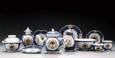 A BLUE AND WHITE ARMORIAL PART