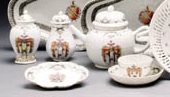 AN ARMORIAL PART TEA SERVICE
