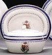 AN ARMORIAL BUTTER TUB AND COV