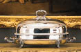 A REGENCY SILVER-PLATED VENISON DISH AND COVER