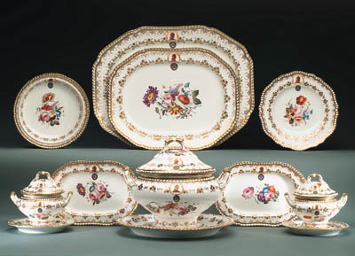 A SPODE FELSPAR CRESTED PART D