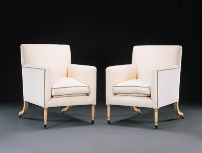 A PAIR OF REGENCY STYLE WHITE
