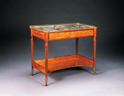 A GEORGE III SATINWOOD WRITING-TABLE