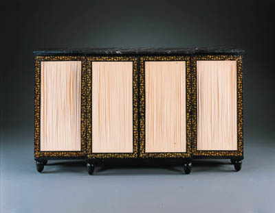 A REGENCY PENWORK SIDE CABINET
