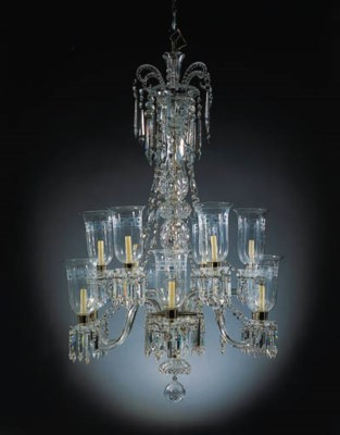 AN EARLY VICTORIAN CUT-GLASS T