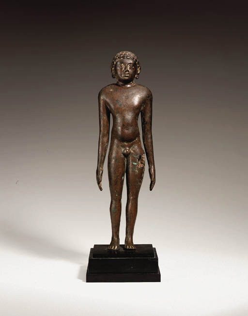A rare bronze figure of a Jina