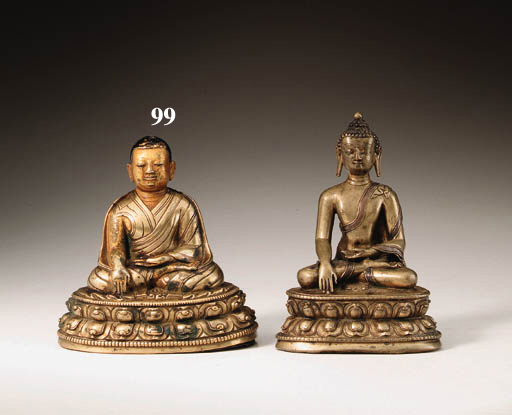 A bronze portrait of Lama Jigt
