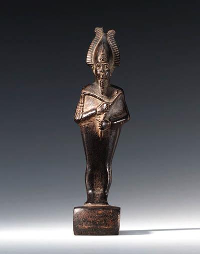 A STEATITE STATUETTE OF OSIRIS