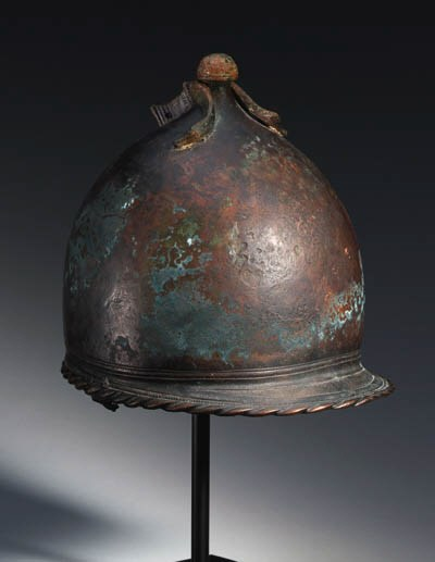 A BRONZE HELMET OF ETRUSCO-ITA