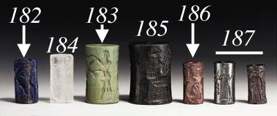 THREE OLD BABYLONIAN CYLINDER