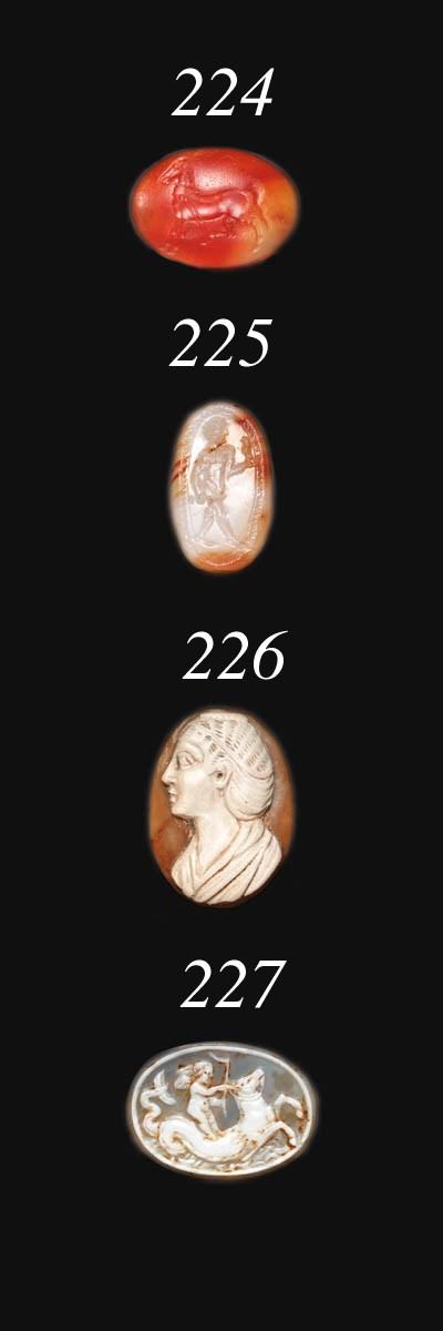 A GREEK CARNELIAN RING STONE