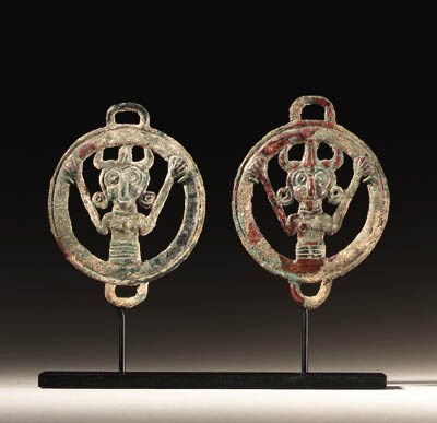 TWO LURISTAN BRONZE HARNESS FI