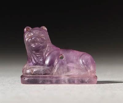 A GRECO-PERSIAN AMETHYST LION