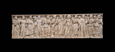 A ROMAN MARBLE FRIEZE FROM A M