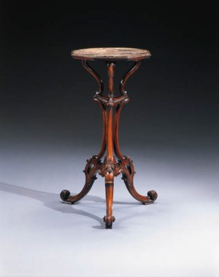 A GEORGE III MAHOGANY AND CHIN