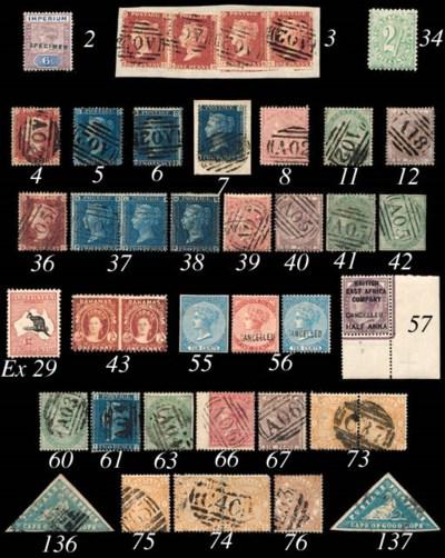 unused  1865 imperf. 10c. blue