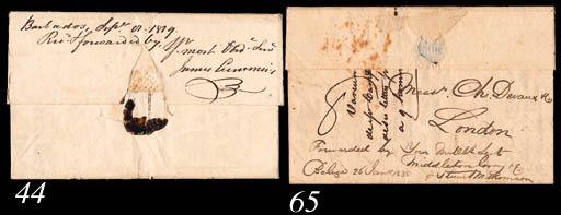 cover 1838 (6 Jan.) entire let