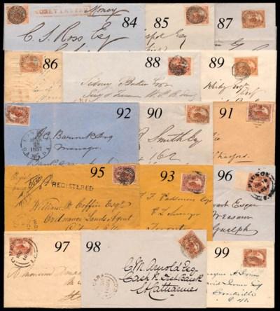 cover 1857 (Sept.) envelope (s
