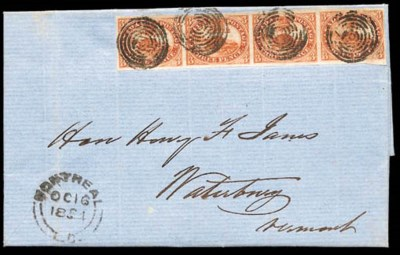 1854 (16 Oct.) entire letter f