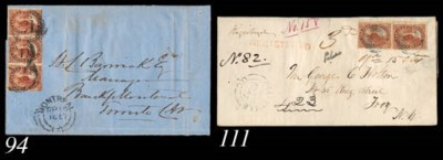 cover 1857 (26 Jan.) entire fr