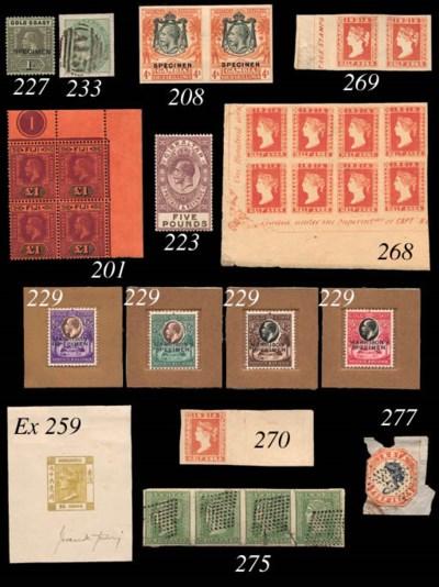 F SPERATI FORGERIES: 1865 96c.