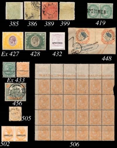 unused  1922-27 £3 purple and
