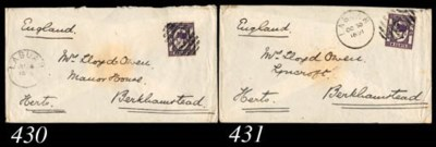 cover 1891 (30 Oct.) envelope