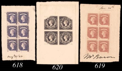 Proof Block of Four  6d. plate