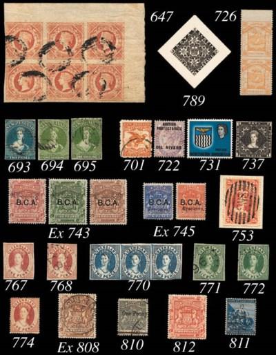 Specimen  1891-95 1d. to £10 s