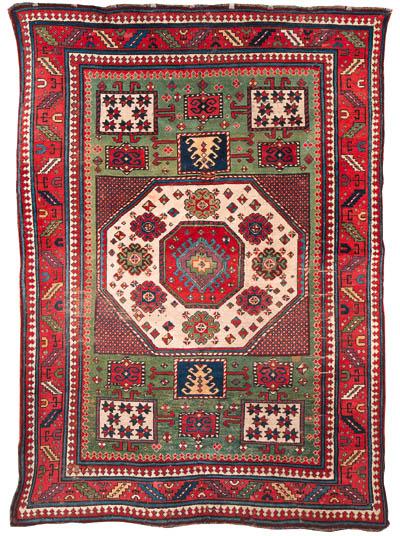 An antique Kazak Karatchopf