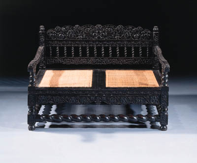 A dutch Colonial ebony canape