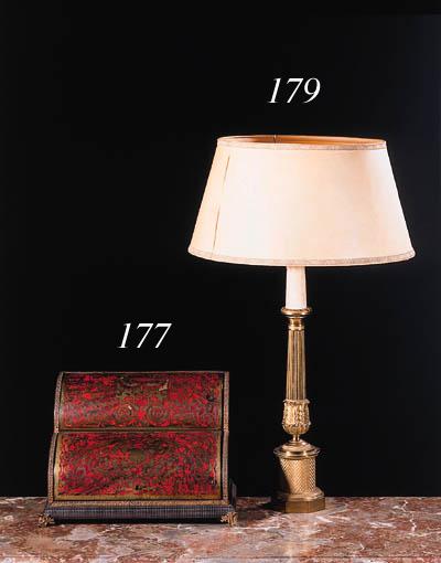 A brass lamp