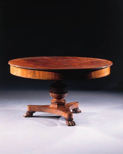 A Dutch mahogany extending din