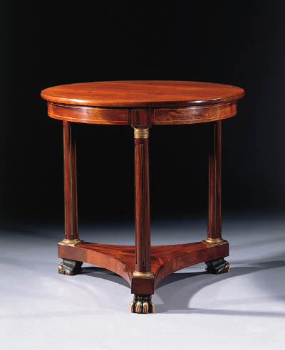 A Dutch brass-inlaid mahogany