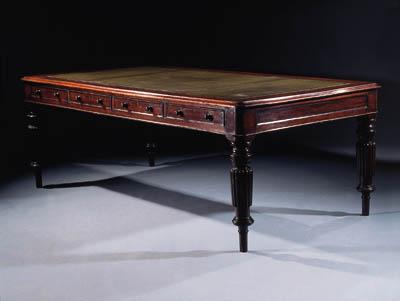 A Victorian mahogany partner's