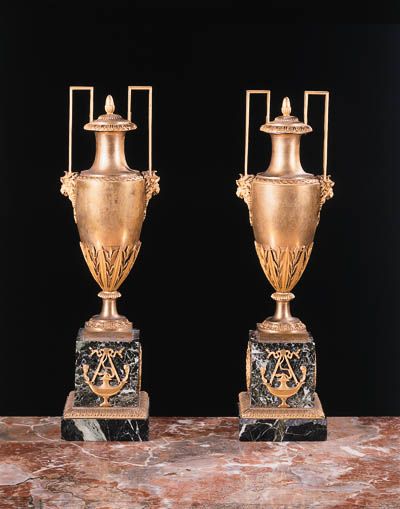 A pair of Empire ormolu and gr