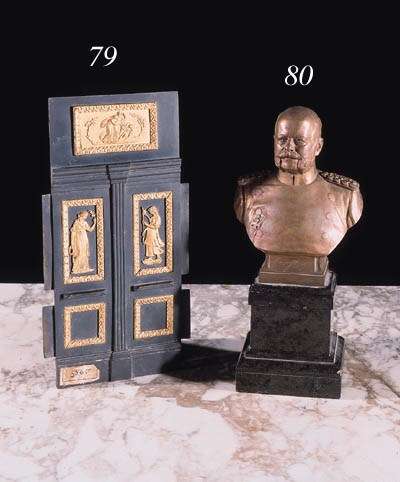 A bronze and ormolu model of a